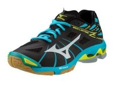 Mizuno Womens Wave Lightning Z WOMS BKAB Volleyball Shoe BlackAlaskan Blue 115 D US * Be sure to check out this awesome product.