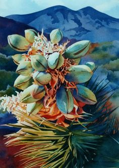 HotPods ~ Cheryl Weinfurtner ~ Watercolor paintings of the Desert Southwest Watercolor Succulents, Watercolor Cactus, Watercolor Drawing, Watercolor Landscape, Painting & Drawing, Watercolor Paintings, Watercolours, Cactus Painting, Southwest Art