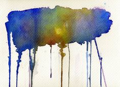 Buy Dripping Universe, a Watercolor Painting on Paper, by Bee-Bee Deigner from Austria, For sale, Price is $150, Size is 8.3 x 11.1 x 0 in. Drip Painting, Watercolor Paintings, Original Artwork, Original Paintings, Bee Bee, Universe Art, Austria, Saatchi Art, Whimsical