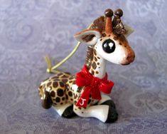Giraffe Christmas Ornament by DragonsAndBeasties.deviantart.com on @deviantART