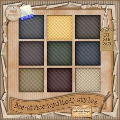 Bee-atrice Styles - $2.08 : Digital Scrapbooking Studio Digital Scrapbooking, Shelving, Bee, The Unit, Studio, Design, Home Decor, Style, Shelves