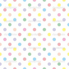 Seamless vector pattern texture with colorful polka dots on white background — Stock Illustration #14242053