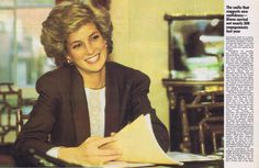 Diana working   Memories Of Diana - Woman's Own Magazine - Diana At Work