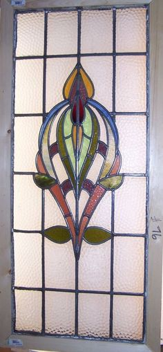 Old SASH!! Vintage Leaded English stained glass window in Antiques, Architectural & Garden, Stained Glass Windows | eBay