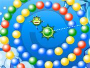 Free Online Puzzle Games, Explore an underwater cavern and try to solve the bubble game that lies beneath the waves in Screwball!  You'll have to clear the level of all the incoming bubbles by shooting your ball into a group of 2 or more similar colored bubbles!  Aim quickly and make sure the bubbles don't reach the underwater monster!, #screwball #bubble #ball #match #puzzle