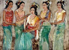 Nyoman Sukari (Karangasem, Bali) - Gadis-gadis Bali (Balinese meisjes), 2005