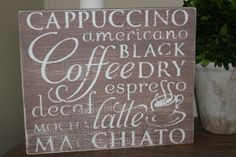 Shop for on Etsy, the place to express your creativity through the buying and selling of handmade and vintage goods. Rustic Shabby Chic, Subway Art, Coffee Signs, Cricut Ideas, Wood Signs, Graphics, Bar, Boutique, Handmade Gifts
