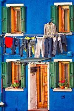 Wash Day in Burano, Italy Wash Day *** By Neil Cherry