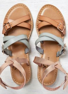 Love these multi-strap sandals. They would go with everything!