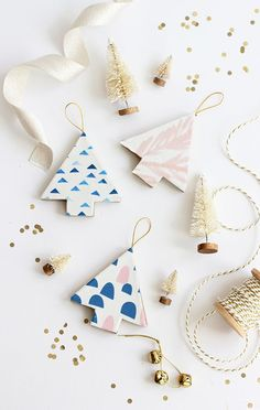DIY: Fabric-Covered Christmas Tree Ornaments