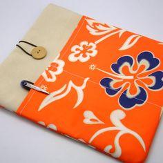 KI SALE iPad Air case, iPad cover, iPad sleeve/ Samsung galaxy Tab 3 10.1 with 2 pockets, PADDED - Hibiscus flower on Etsy, $18.00