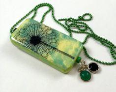 Spring Make a Wish Domino Pendant Dandelion Make a Wish Pendant Wish Jewelry item 156