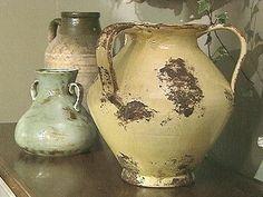 Pastel hued Olive Jars