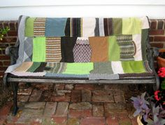 WOOL PATCHWORK BLANKET made From Recycled by heartfeltbaby on Etsy, $109.00