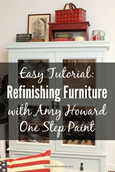 DIY Furniture : Refinishing Furniture With Amy Howard Chalk Paint - An Easy Tutorial. Update any furniture with this paint! Dagmar's Home, New Furniture, Furniture Makeover, Painted Furniture, Furniture Refinishing, Refinished Furniture, Repurposed Furniture, Office Furniture, Furniture Ideas, Recycling Furniture