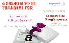 Southern Mom Loves: $150 Amazon Gift Card Giveaway from Pregknowsis! Ends 11/30