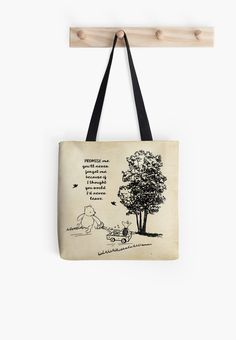 Winnie the Pooh - Promise Me You'll Never Leave Tote Bag Love funny quotes and inspirational quotes? ArtyQuote Canvas Art & Apparel was made for you!Check out our canvas art, prints & apparel in store, click that link ! Always There For You Quotes, Cant Wait To See You Quotes, Seeing You Quotes, Good Heart Quotes, Baby Love Quotes, Great Gatsby Love Quotes, Mean People Quotes, Passion Quotes, Diy Crafts To Do