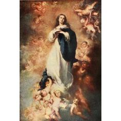 History of Painting 1911 The Immaculate Conception Canvas Art - Bartolom Esteban Murillo (18 x 24)