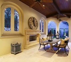 Outdoor Living ,The Iron Work on the Windows THE PERFECT OUTDOOR LIVING SPACE