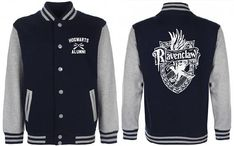 Ravenclaw Varsity Jacket. This Varsity Jacket is made of premium quality cotton/polyester blend for a great quality soft feel, and comfortable fit. This product is Unisex Varsity Jacket. Unisex Sizing Guide: Xtra Small: Chest 88 cm// 34in - Length 58 cm// 23 In Small: Chest 94