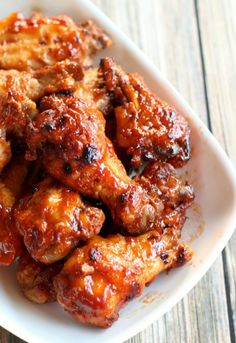 Slow Cooker Apricot BBQ Chicken Wings