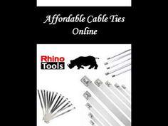 Affordable Cable Ties Online  Want to purchase Affordable Cable Ties Online?  Then Rhino Tools is the best price to shop. For more info, Visit our website. See more at: https://rhinotools.com.au/product-category/stainless-steel-cable-ties/