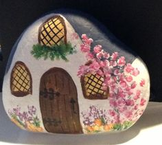 Rock Cottage for my fairy garden. DT 2015