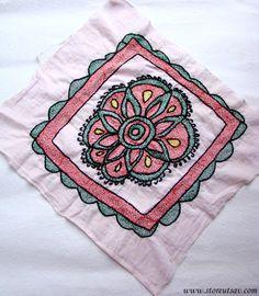 Home Decor Sujini Embroidery on a Kurta Cloth Indian by StoreUtsav