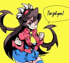Skullgirls, Manga Girl, Anime Art Girl, Rainbow Six Siege Anime, Little Witch Academy, Robot Girl, Drawing Reference Poses, Cartoon Games, Video Game Art