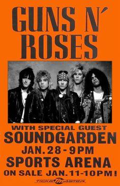 Guns N' Roses Concert Poster https://www.facebook.com/FromTheWaybackMachine/