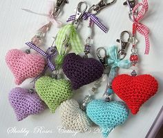 I made this hearts by my own pattern :o) Blogged...