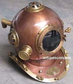 Marine Anchor Engineering Divers Diving Deep Sea Helmet - Karl Heinke Germany Helmet Size- 42 x 36 x 42cm