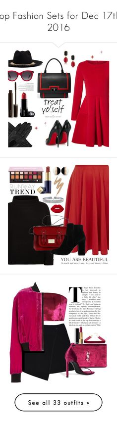 """""""Top Fashion Sets for Dec 17th, 2016"""" by polyvore ❤ liked on Polyvore featuring Dents, Venna, Laura Mercier, WithChic, Christian Louboutin, 1st & Gorgeous by Carolee, Givenchy, Alexander McQueen, Closet and Jaeger"""