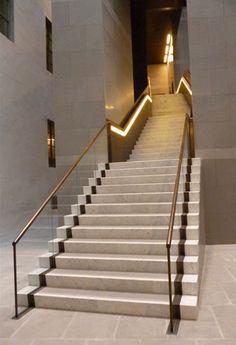 luxury staircase design brass - Google Search