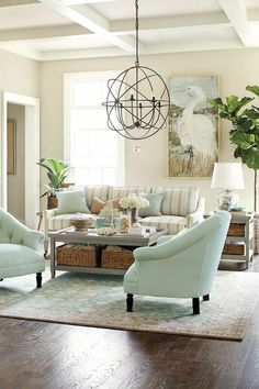 Decorating with stripes indoors Ballard Designs. I love it all.