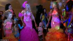 Looking forward to her big day: 18-year-old Chantelle went all out for her hen party in Rathkeale