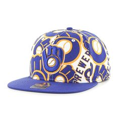 hot sale online 5b27f 57310 Milwaukee Brewers Bravado Captain White 47 Brand Adjustable Hat