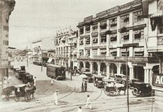 SOUTH END OF RIZAL AVENUE, MANILA [1924]  Present site of the Carriedo LRT-Line 1 Terminal Treaty Of Paris, President Of The Philippines, The Spanish American War, Philippines Culture, Filipiniana, Photo Essay, Manila, Old Photos, Street View