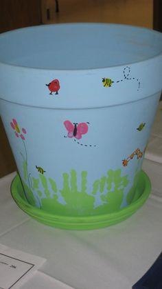 Fingerprint clay pot