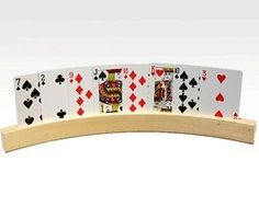 Playing Card Holder Curved Wood Set of 2 by CHH. $10.99. CHH Games Markers - Curve shape Wooden Card Holders - Item: CHH_2706b. Save 27%!