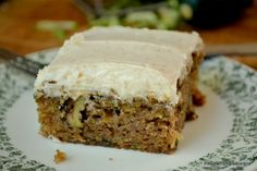 The View from Great Island | End of summer Zucchini Cake with Browned Butter Frosting Personally, I would substitute pecans for the walnuts.