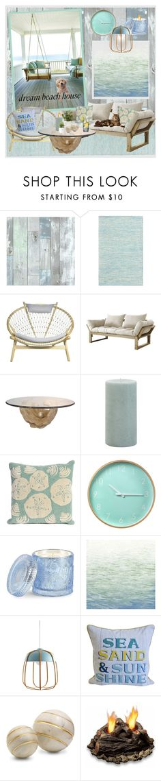 """""""Let the Ocean be Your Star!"""" by krusie ❤ liked on Polyvore featuring interior, interiors, interior design, home, home decor, interior decorating, Wall Pops!, Fresh Futon, Pier 1 Imports and Liora Manné"""