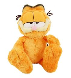 Bright, soft, cute and cuddly this plush Garfield toy is based on the famous comic strip character. The perfect cat with whom to spend your time - lazy, funny and great company.