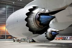 GE high-bypass, ultra efficient turbofan engines.