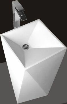 model modern bathroom pedestal sink