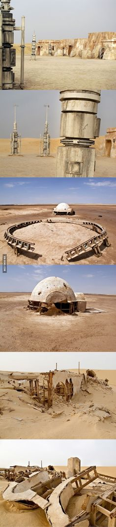 Abandoned Star Wars film sets in Tunisian Desert #starwars