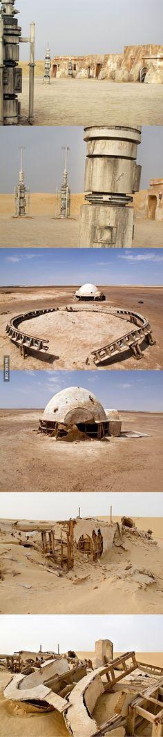 Abandoned Star Wars film sets in Tunisian Desert