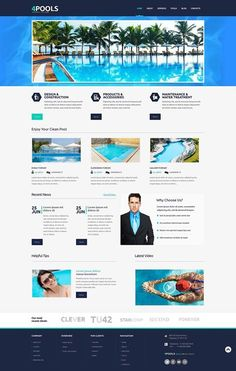 I am in love with it   Pool Cleaning Responsive WordPress Theme view live demo  http://cattemplate.com/website-template/pool-cleaning-responsive-wordpress-theme-2/