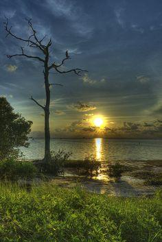 Sunset on Crystal Beach, Florida #Beaches