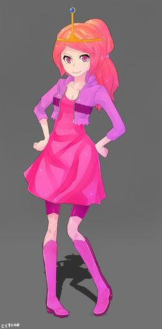 Princess Bubblegum (Bonnie Bonnibel) - Adventure Time with Finn and Jake by ~EK9000